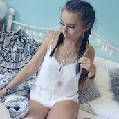 romper,white,lace,white lace playsuit,boho,elnique