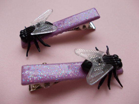 Items similar to fruit fly hair barrettes on etsy