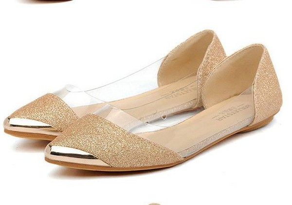 shoes flats glitter sparkle shoes transparent shoes
