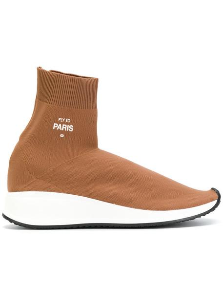 Joshua Sanders women sneakers leather brown shoes