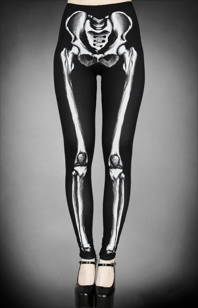Ray, black stretch roller derby leggings, tights, pants, goth