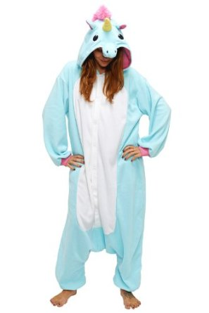 Amazon.com: Japan Sazac Original Kigurumi Pajamas Chirstmas Costumes: Unicorn (Blue): Clothing