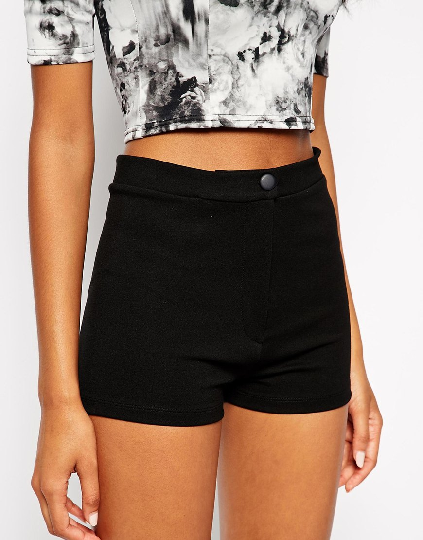 TALL High Waisted Stretch Shorts at asos.com