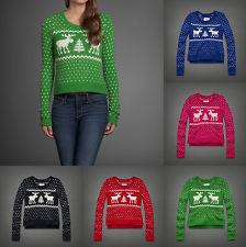 Abercrombie Women Gemma Cropped Easy FIT Sweater Medium   eBay
