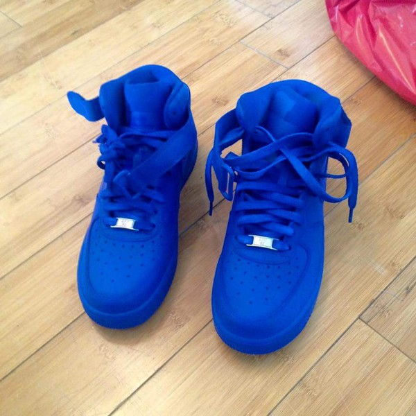 all blue air force ones