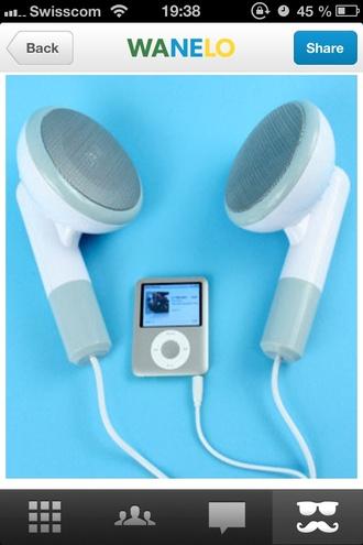 earing jewels music ipod cool speaker giant sweater hot ear