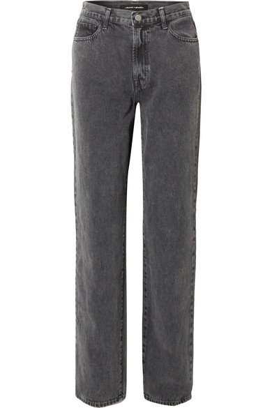 J Brand -   Elsa Hosk Sunday mid-rise straight-leg jeans