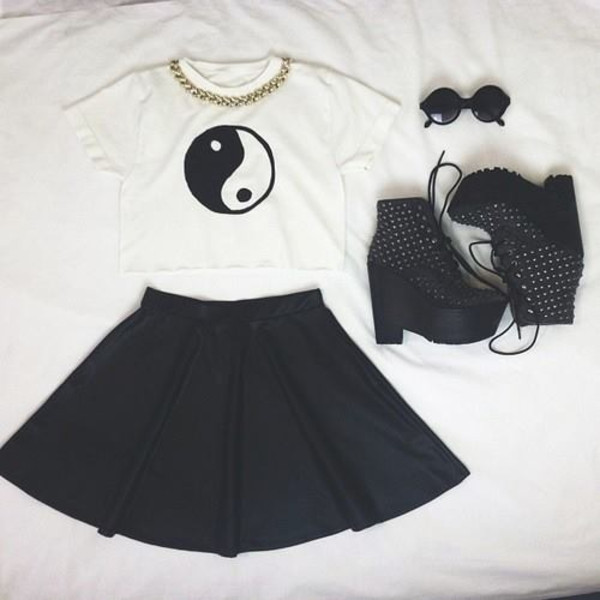 Yin Yang T Shirt Top Tee Crop Tank Vest Paris Di Mingalondon