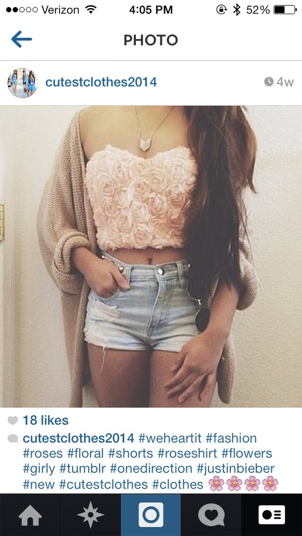 shirt rose bandeau crop tops rose bandeau shorts sweater
