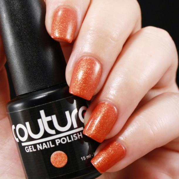 Nail Polish, Orange Gel Nail Polish, Couture Gel Nail