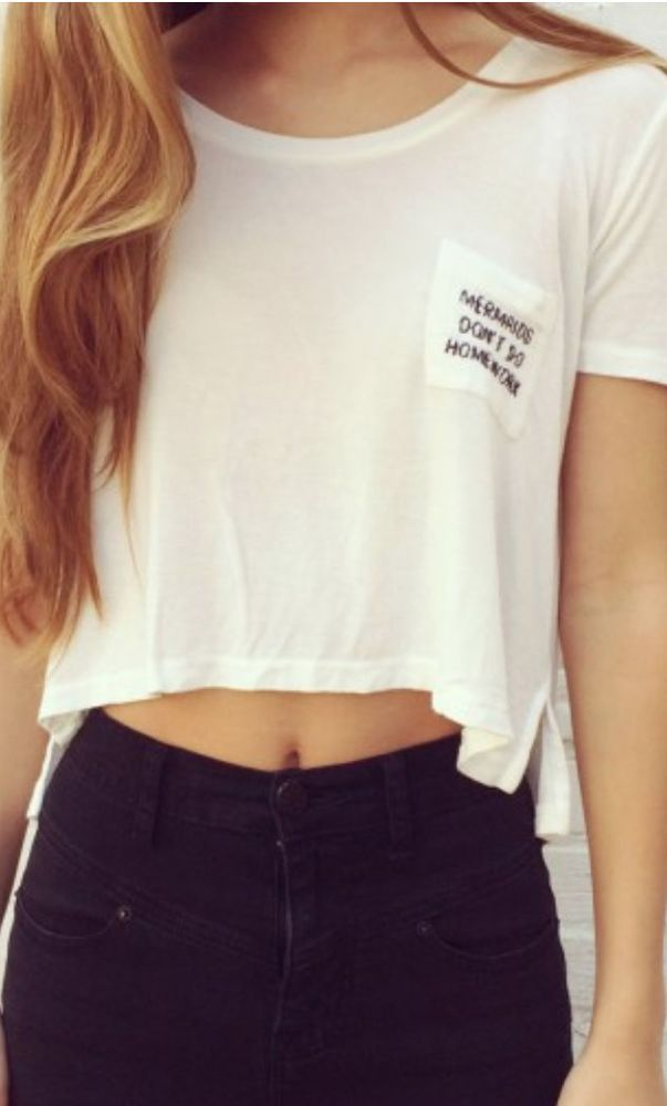 Brandy Melville By John Galt, Mermaid Don't Do Homework WHITE Top,NWT! SOLD OUT!