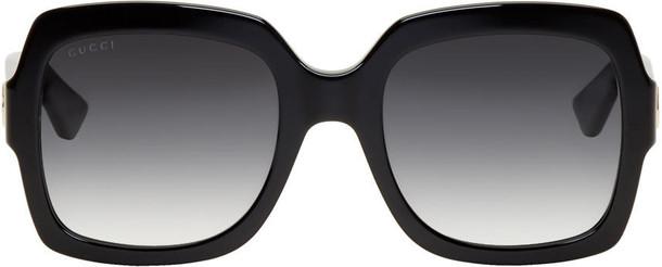 gucci oversized sunglasses black