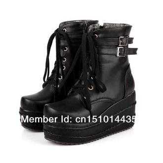 shoes metal platform shoes combat boots hardcore