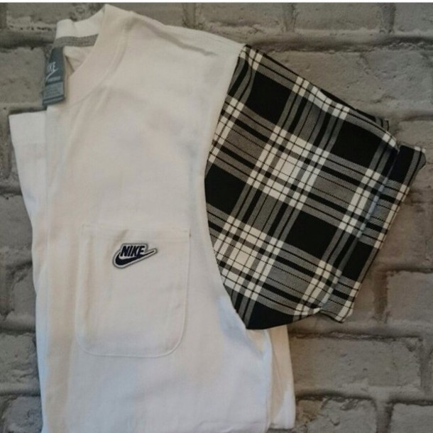 t-shirt shirt plaid nike