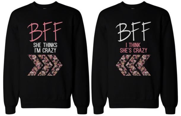 sweater bff female friendship matching sweatshirts