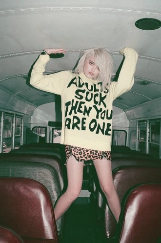sweater grunge quote on it