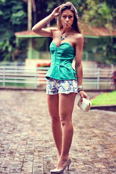 decor e salto alto shorts jewels shoes