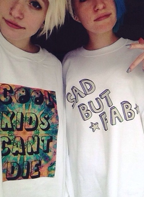 sweater sad but fab cool kids can't die