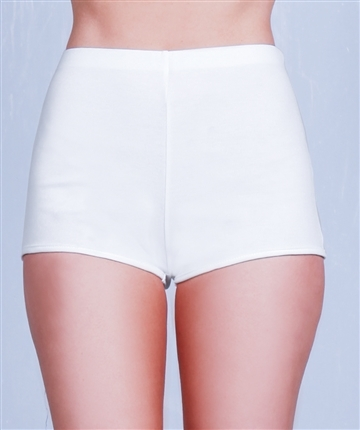 White high rise mini shorts