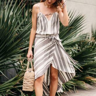 skirt tumblr midi skirt wrap skirt stripes striped skirt bag top matching set shoes asymetrical skirt