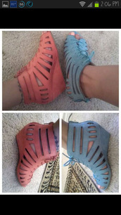 shoes,wedge sandals,wedges,blue,pink,light blue,light pink,laces,sandals