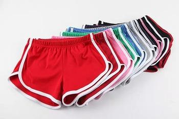 estilo de moda nuevo baratas Calidad superior Buena calidad 100% algodón pantalones cortos deportivos mujeres, vintage  para mujer de la aptitud shorts elásticos, la playa del verano ocasional ...
