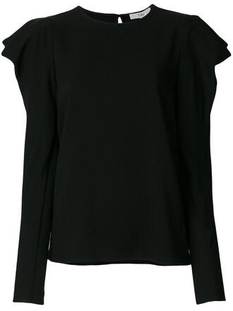 top women spandex draped black