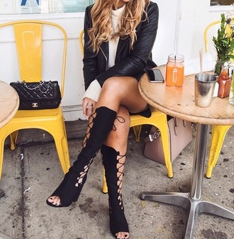shoes gladiator lace up sandals boots cut-out cut-out heel cut out shoes lace up sandals black shoes