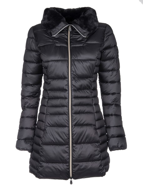 Save The Duck jacket down jacket fur black