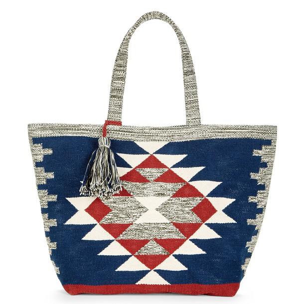 Sole Society Rees Tribal Print Oversize Tote - Multi-One Size