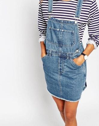 jumpsuit jeans denim denim blue skirt