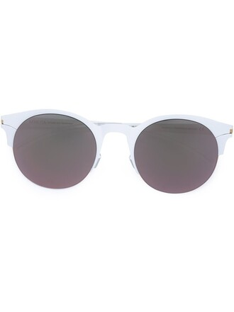 metal women sunglasses white