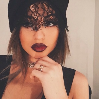 hat kylie beanie red hat sexy black k jenner
