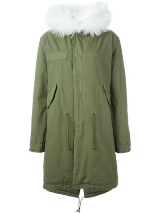 parka fur green coat