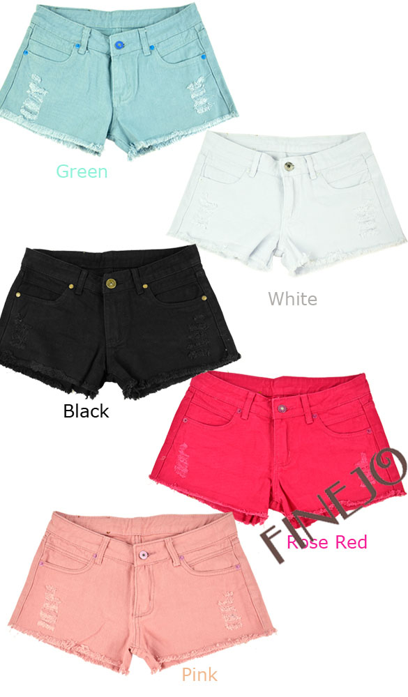 New Fashion Women's Candy Color Jeans Shorts Denim Broken Hole Hot Shorts Casual Drop shipping 14514-in Jeans from Apparel & Accessories on Aliexpress.com