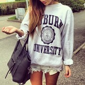 jacket,celebrity,bag,shorts,sweater,sweatshirt,cute,grey,university,lovely,shirt,tan,brunette,auburn,grey sweater,swag,blouse,grey hoodie,black letters,oversized,denim,girly,boyish,long hair,oversized sweater,auburn university,crewneck,summer,comfy,hipster,oversize sweater,fashion,top,jumper,clothes,shoes,blue dress,college,messenger bag,knitwear,hoodie,pull gris,auburn university seal sweatshirt,large,hoodie shirt,white,bold letters,back to school,black,weheartit,style,love,like,life,swether,chair,london,new york city,city,sexy,looking,hell,muvj,sex and the city,auburn university jumper