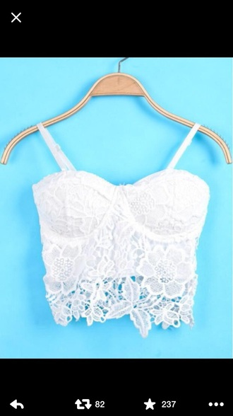 top white flowers white crop tops white top detail pattern