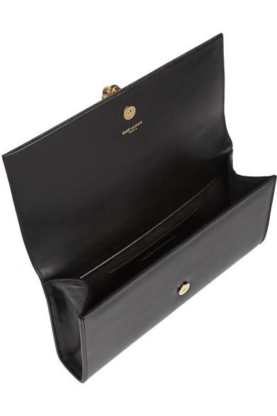 Saint Laurent | Monogramme leather clutch | NET-A-PORTER.COM