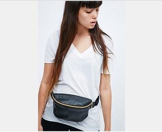 bag urban outfitters belt bag black bag
