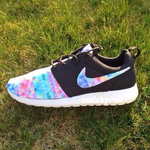 shoes nike roshe runs nike roshe run running nike roshe run women colorful twitter triangles swoosh black white nike shoes womens roshe runs kaleidoscope nike roshe run colorful nikes nike running shoes rosche runs nike shoes rainbow running shoes colorful brand