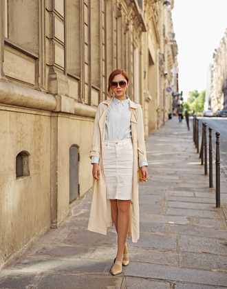 camille tries to blogger sunglasses coat top skirt bag