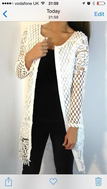 jacket white crochet