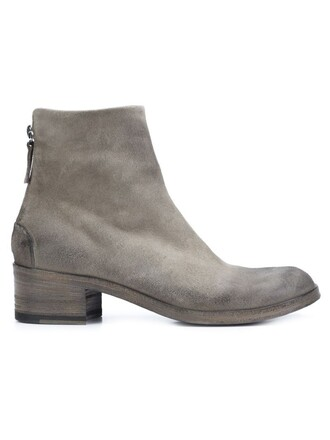 zip boots ankle boots grey shoes