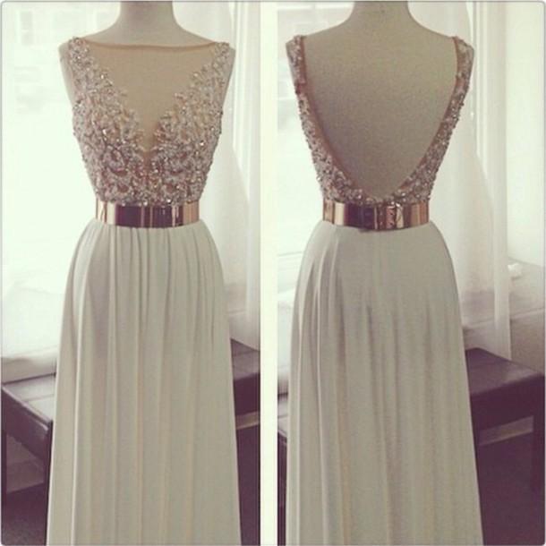 dress lace dress gold belt prom dress dress