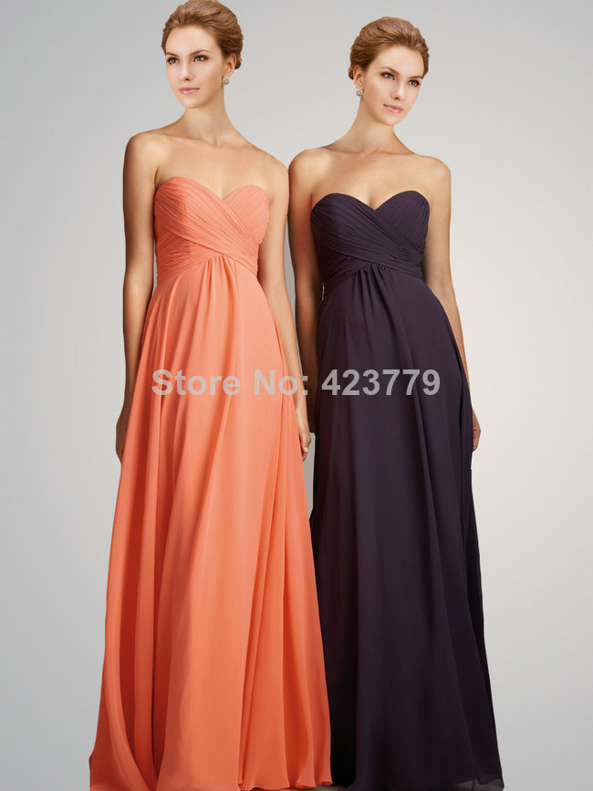 Aliexpress.com : Buy On Sale Sweetheart A line Pleated Chiffon vestido de madrinha de casamento longo Bridesmaid Dress US Size 2 16 from Reliable Bridesmaid Dresses suppliers on 27 Dress