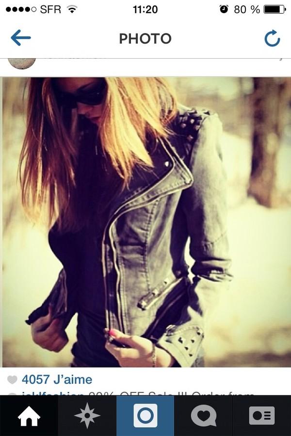 jacket spiked leather jacket