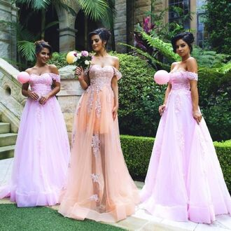 dress wedding dress wedding wedding clothes bridesmaid pastel pastel pink pastel purple long dress bridal gown