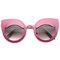 Eye lids poppin cat eye sunglasses in hot pink at flyjane