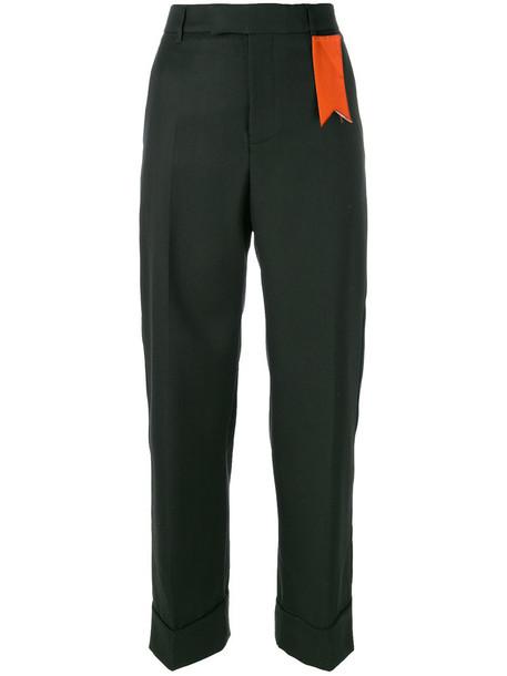 The Gigi women wool green pants
