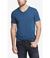 STRETCH COTTON V-NECK TEE from EXPRESS